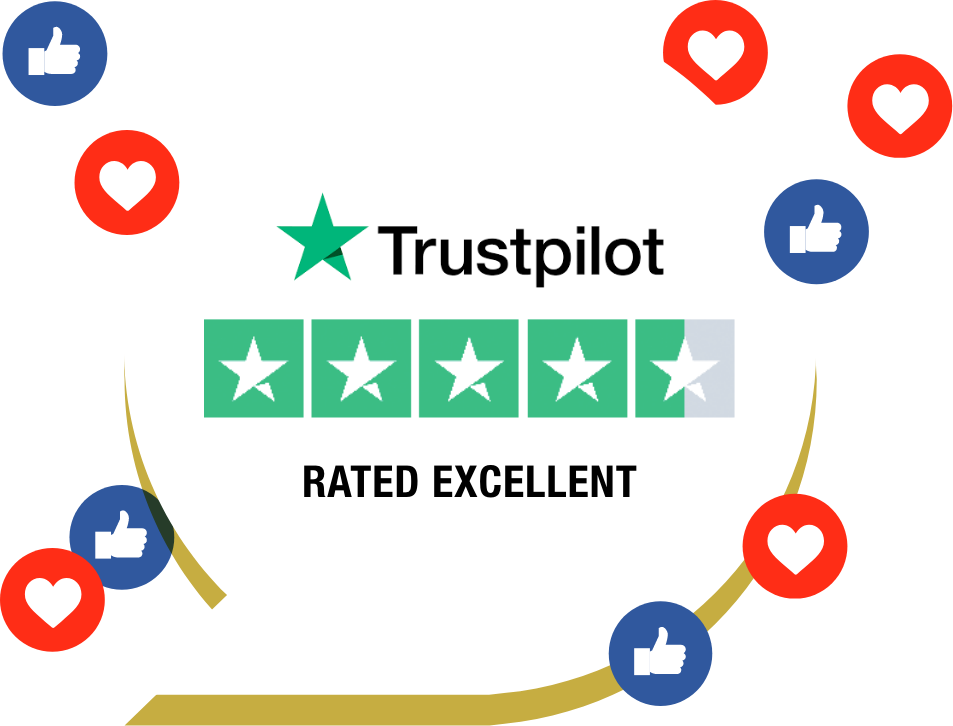 We're rated excellent on Google and Trustpilot!