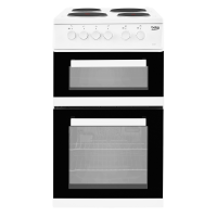 Beko KD533AW Electric Cooker with Solid Plate Hob